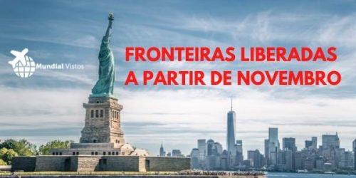 Estados Unidos suspenderão restrições de viagens a partir de novembro